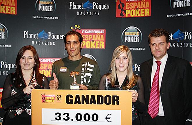 Lautaro Curi se proclama vencedor de la segunda etapa del CEP celebrada en el Casino Mediterr