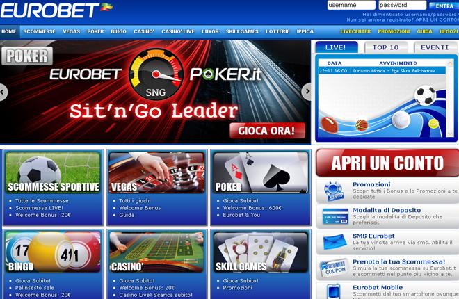 Eurobet Italia incorporará juegos de SG Gaming