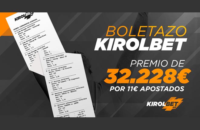 Kirolbet concede un premio de 32.000€