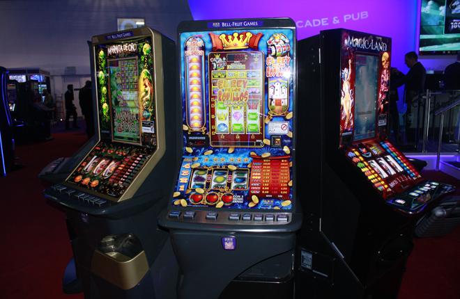 El Rey de los Rodillos, en la zona de Novomatic Gaming Spain en la feria de Londres