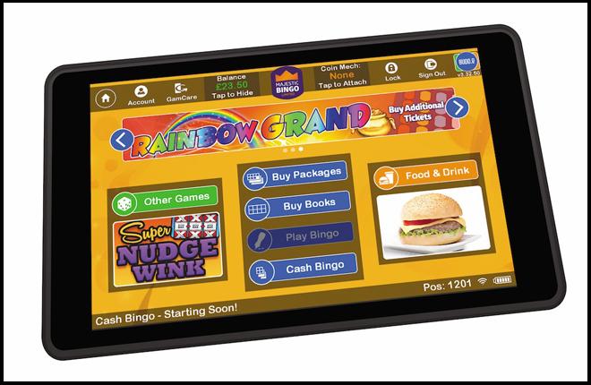 Una tablet para los clientes de bingos del Reino Unido<br />