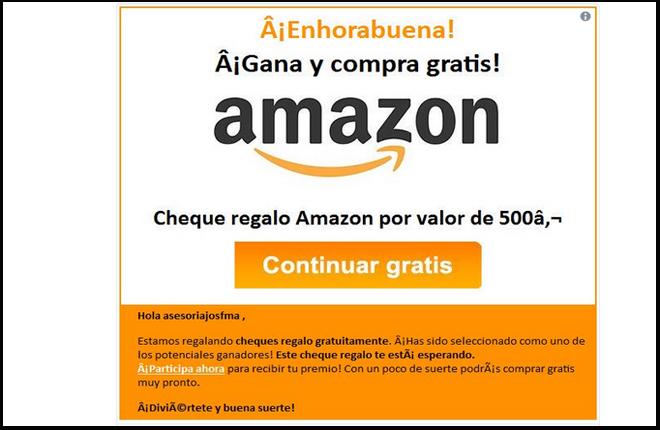 No utilices un Cheque Regalo de Amazon.es para reclamar premios de loter&iacute;as<br />