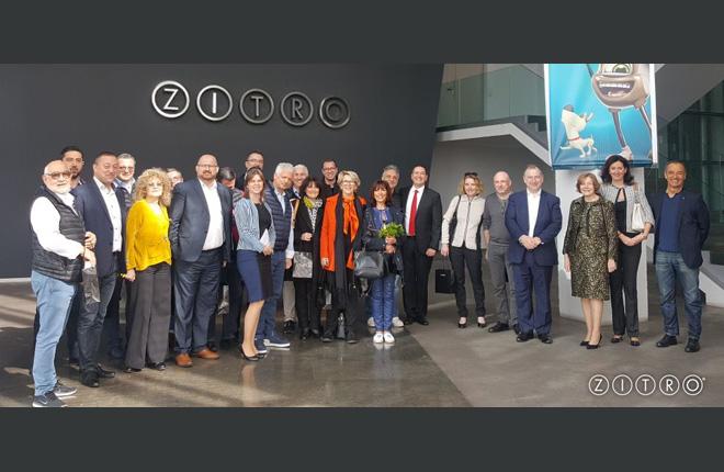 Visita a Zitro de los casinos franceses asociados al SCMF <br />