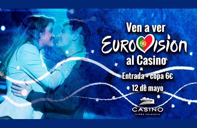 EuroFiestón: la final de Eurovisión 2018 con una fiesta en Casino Cirsa Valencia