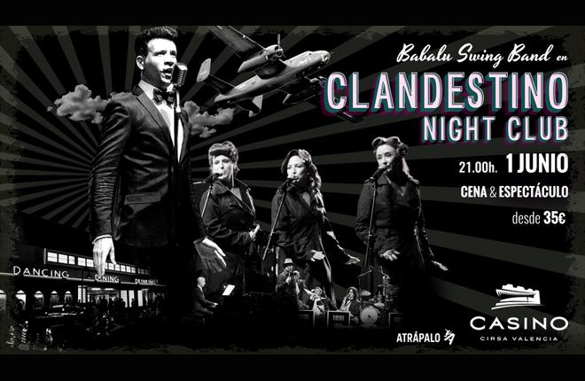 Clandestino Night Club: viaja hasta el Chicago de los a&ntilde;os 40 en Casino Cirsa Valencia <br />
