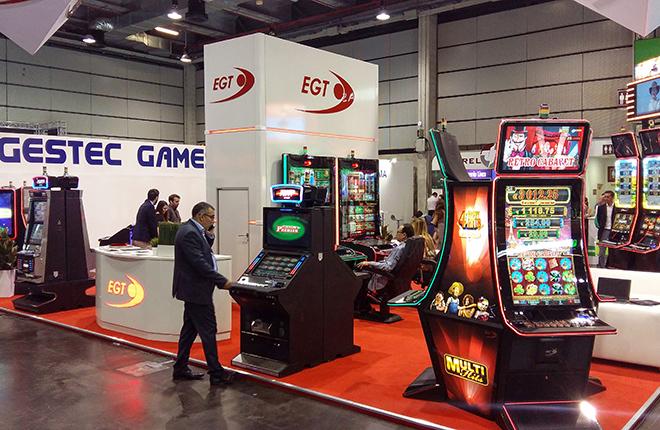 EGT mostrar&aacute; productos AWP y juegos online en EXPOJOC 2018<br />