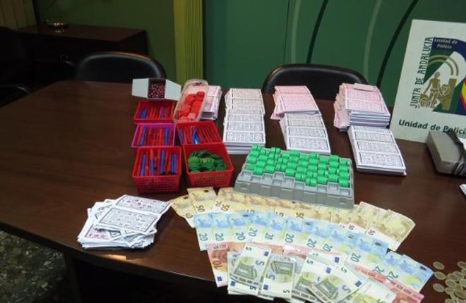 Desmantelan dos bingos ilegales en V&eacute;lez y Algarrobo (M&aacute;laga)<br />