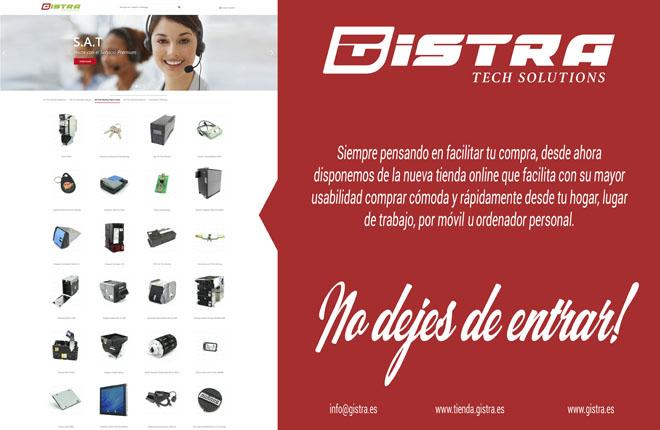 Gistra anuncia la puesta en marcha de su tienda online<br />