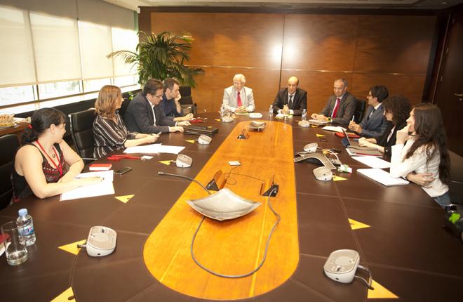 Todas las fotos del encuentro de la c&uacute;pula directiva de Codere con la prensa del sector<br />