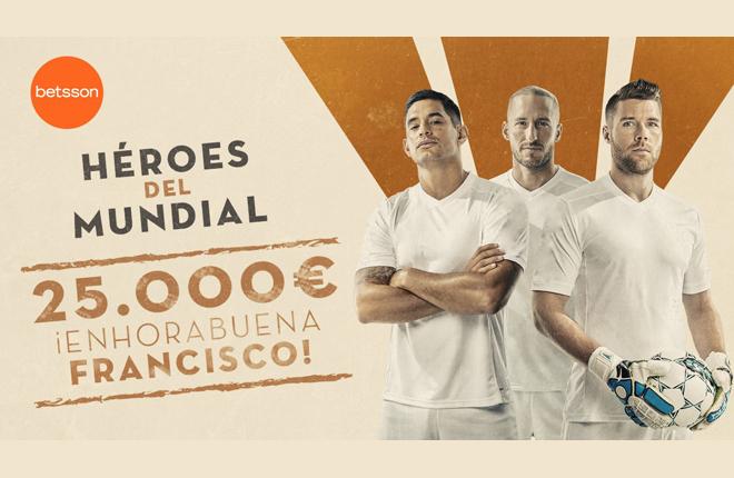 Ganador de 25.000 euros &quot;solo&quot; por saber de f&uacute;tbol en Betsson.es&nbsp; <br />