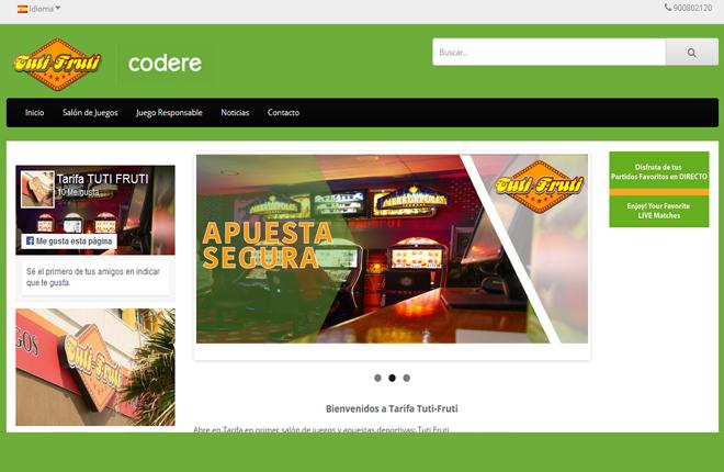 Tuti Fruti, socio de Codere en Tarifa, presenta su web<br />