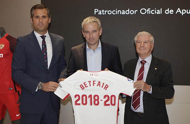 Betfair, nuevo patrocinador del Sevilla FC<br />