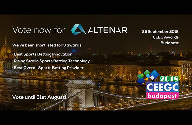 Altenar nominada en tres categor&iacute;as en los premios CEEG<br />