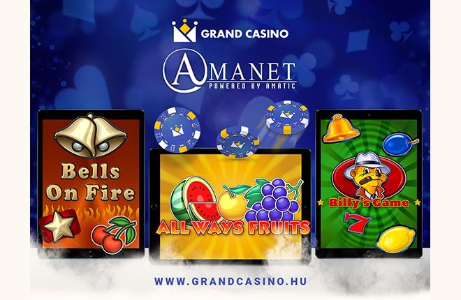 Los juegos de Amanet en el Grand Casino h&uacute;ngaro<br />