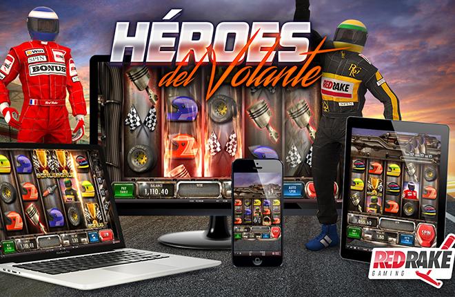H&eacute;roes del volante, la nueva videoslot de Red Rake Gaming<br />