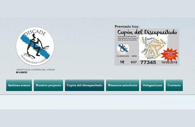 El Cup&oacute;n del Discapacitado que vende en Sevilla Discade es ilegal<br />