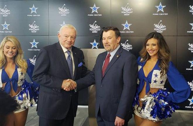 Los Dallas Cowboys anuncian alianza con WinStar World Casino, primera en su tipo<br />