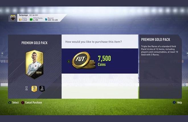 Bélgica investiga a EA por la cajas de botín del FIFA 18
