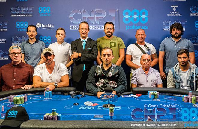 Adri&aacute;n Garc&iacute;a se impuso en la cuarta etapa del Circuito Nacional de Poker 888<br />