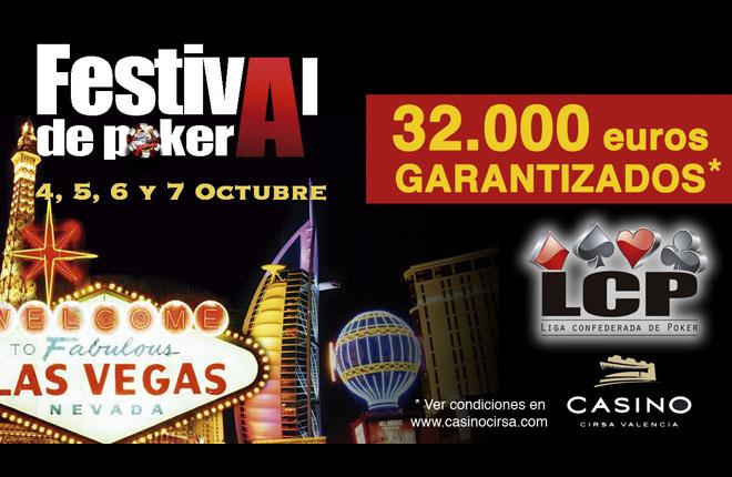 La LCP vuelve a Casino Cirsa Valencia con 32.000&euro; garantizados y un viaje a Las Vegas<br />
