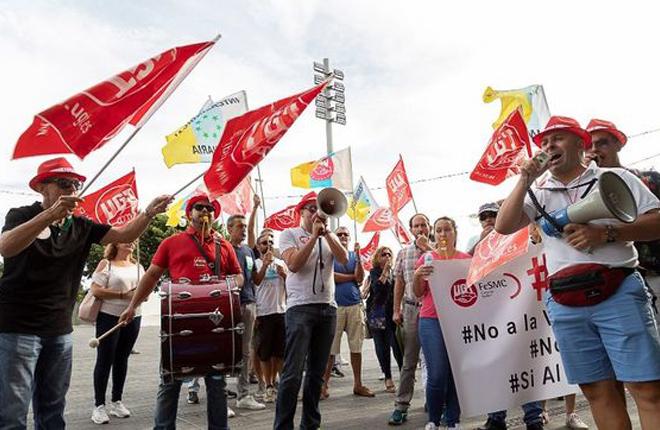 UGT acusa al Gobierno insular de CC y PSOE de &quot;mentir&quot; para justificar la venta de los casinos del Cabildo de Tenerife <br />