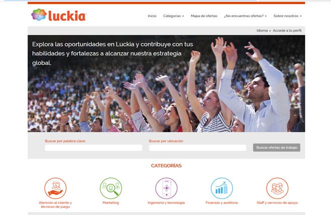 Luckia lanza su nuevo portal de empleo