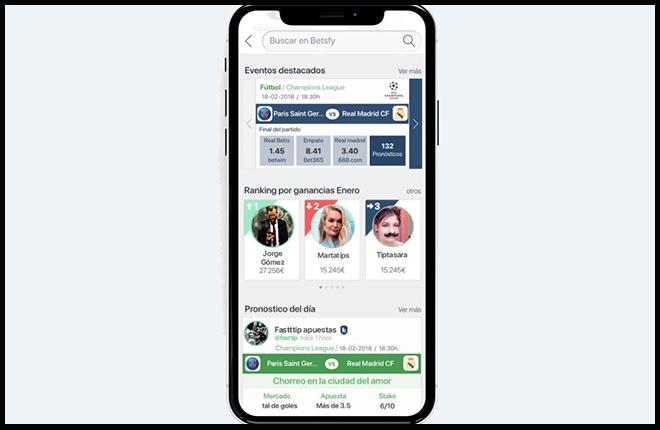 Betsfy: la nueva app de las apuestas deportivas<br />