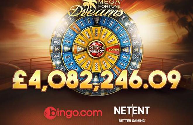 El bingo onloine brit&aacute;nico premia con 4 millones de libras a un apostador de Mega Fortune Dreams<br />