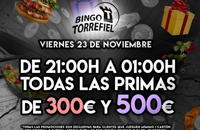 El Bingo Torrefiel de Valencia ofrecer&aacute; todas las Primas a 300 y 500 euros<br />