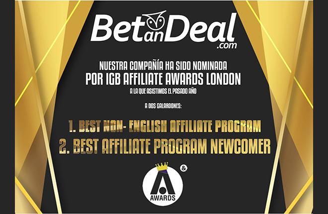 La espa&ntilde;ola BetanDeal nominada para los iGBAwards 2019<br />