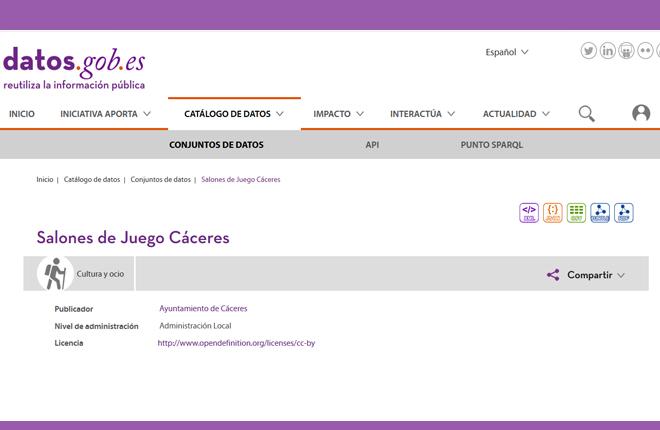 El Ayuntamiento de C&aacute;ceres publica su censo de salones de juego<br />
