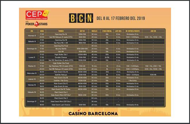 El Campeonato de España de Poker 2019 arrancará en Casino Barcelona