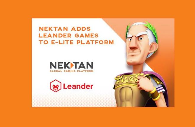 Nektan mejora su oferta de distribución de contenido con los juegos de Leander Games