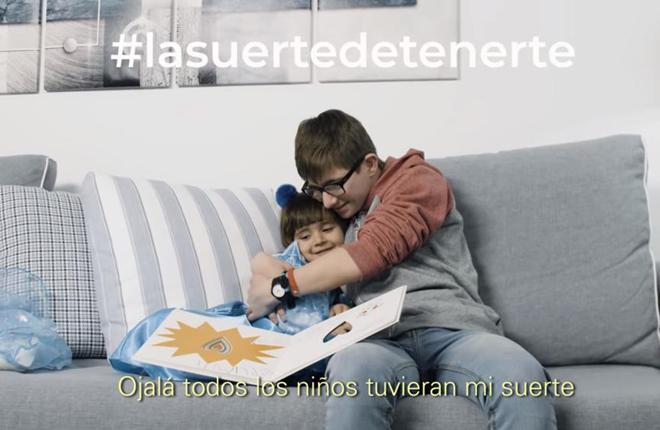 Valisa se une a la campaña La Suerte de Tenerte de la Federación Española del Síndrome de Down