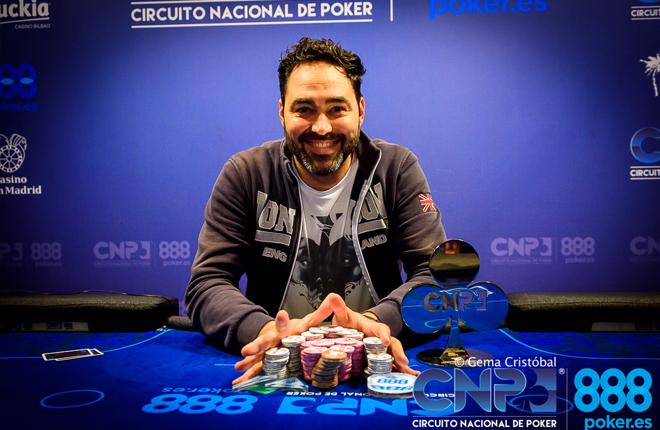 David Lebrón se clasifica online gracias a 888poker y gana el evento principal del CNP888 Málaga