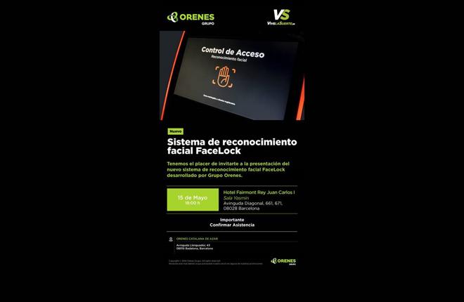 Orenes presentará FaceLock en Barcelona