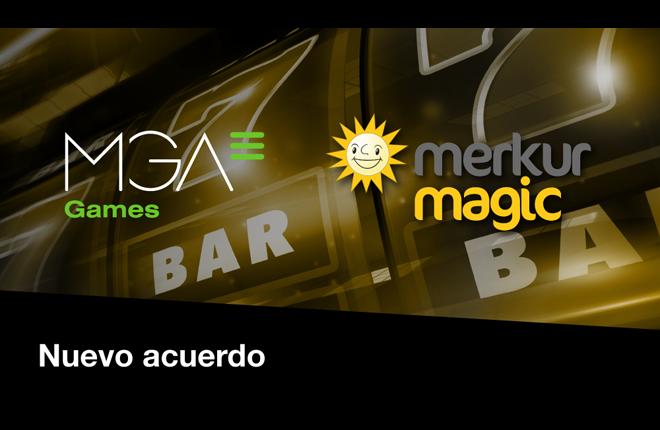 MGA Games firma con Merkurmagic y afianza su posicionamiento en el mercado español