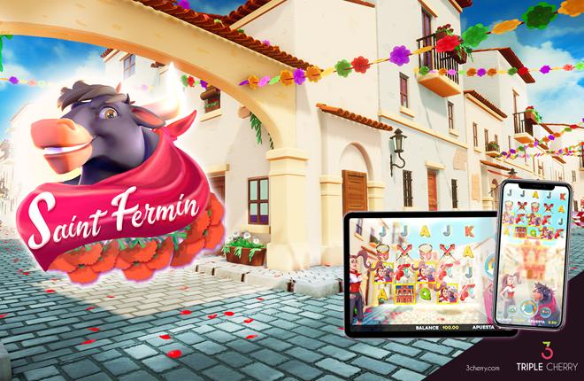 Triple Cherry presenta su slot más original en 3D para el mercado español: Saint Fermin